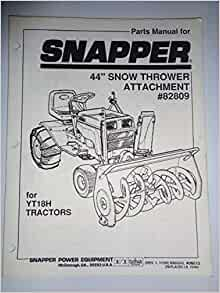 parts manual for snapper 30122be