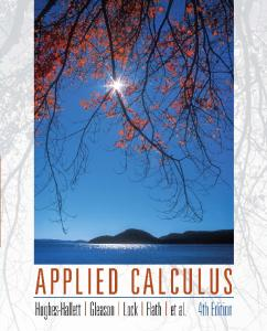 applied calculus hughes hallett 4th edition solutions manual pdf