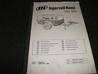 ingersoll rand 2-185-7124 parts manual